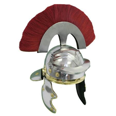 ROMAN OFFICER HELMET - Red Plume - IMPERIAL COSTUME (Roman Helmets)