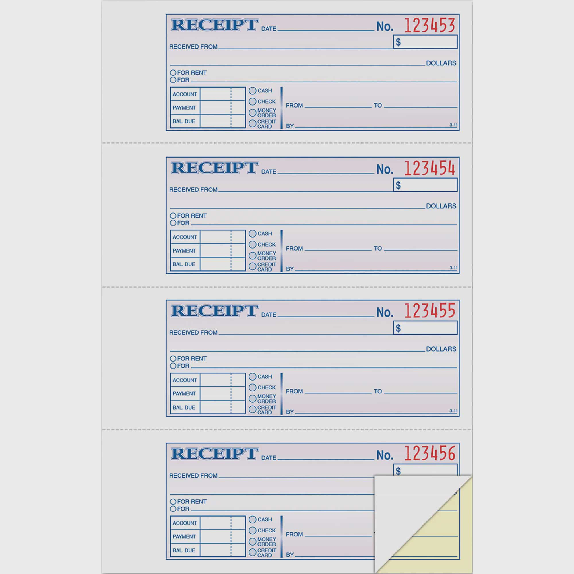 Adams 2-Part Money Rent Receipt Book, 200 Count by TOPS Products