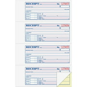 Adams® Money/Rent Receipt Record Book, 2-Part, Carbonless, 4 per Page, 200 Sets per Book