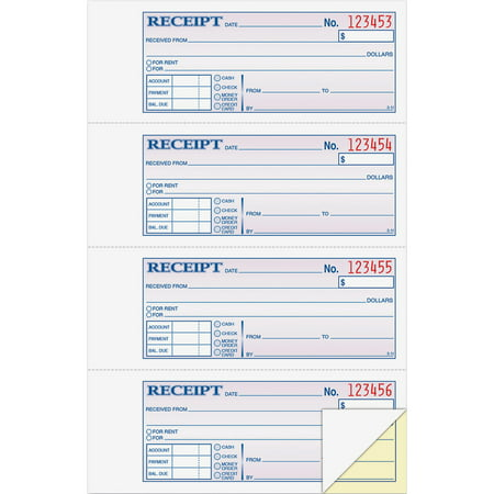- Adams 2-Part Money/Rent Receipt Book, 200 Count