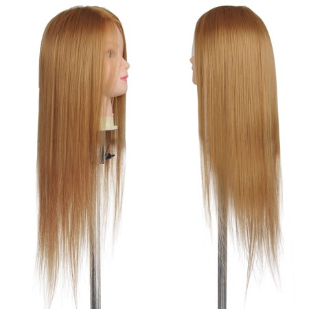 """26"""" Synthetic Hair Salon Hairdressing Training Mannequin Head w/ Clamp Holder - image 3 de 7"""