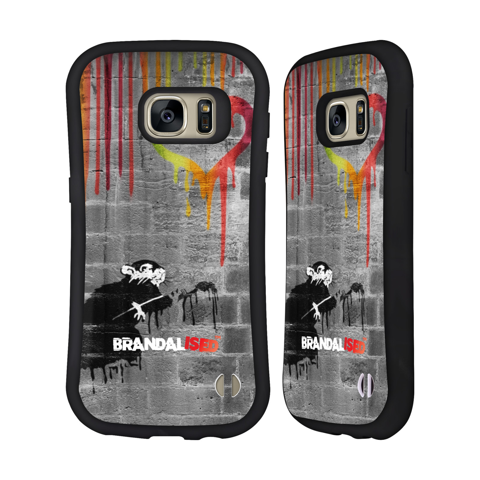 OFFICIAL BRANDALISED BANKSY DRIPS HYBRID CASE FOR SAMSUNG PHONES