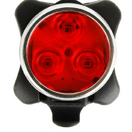 USB Rechargeable LED Bike Lights, 3 LED Cycling Headlight / Taillight, 4 Light Modes, 160lm, Water Resistant, Front / Rear Bicycle Light Fits All Bikes, Road