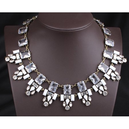 Novadab Contemporary Crystal Studded Bold Statement (Bold Statement)
