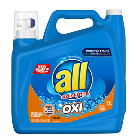 All Oxi Detergent with Stainlifters, 79 loads, 141 fl oz