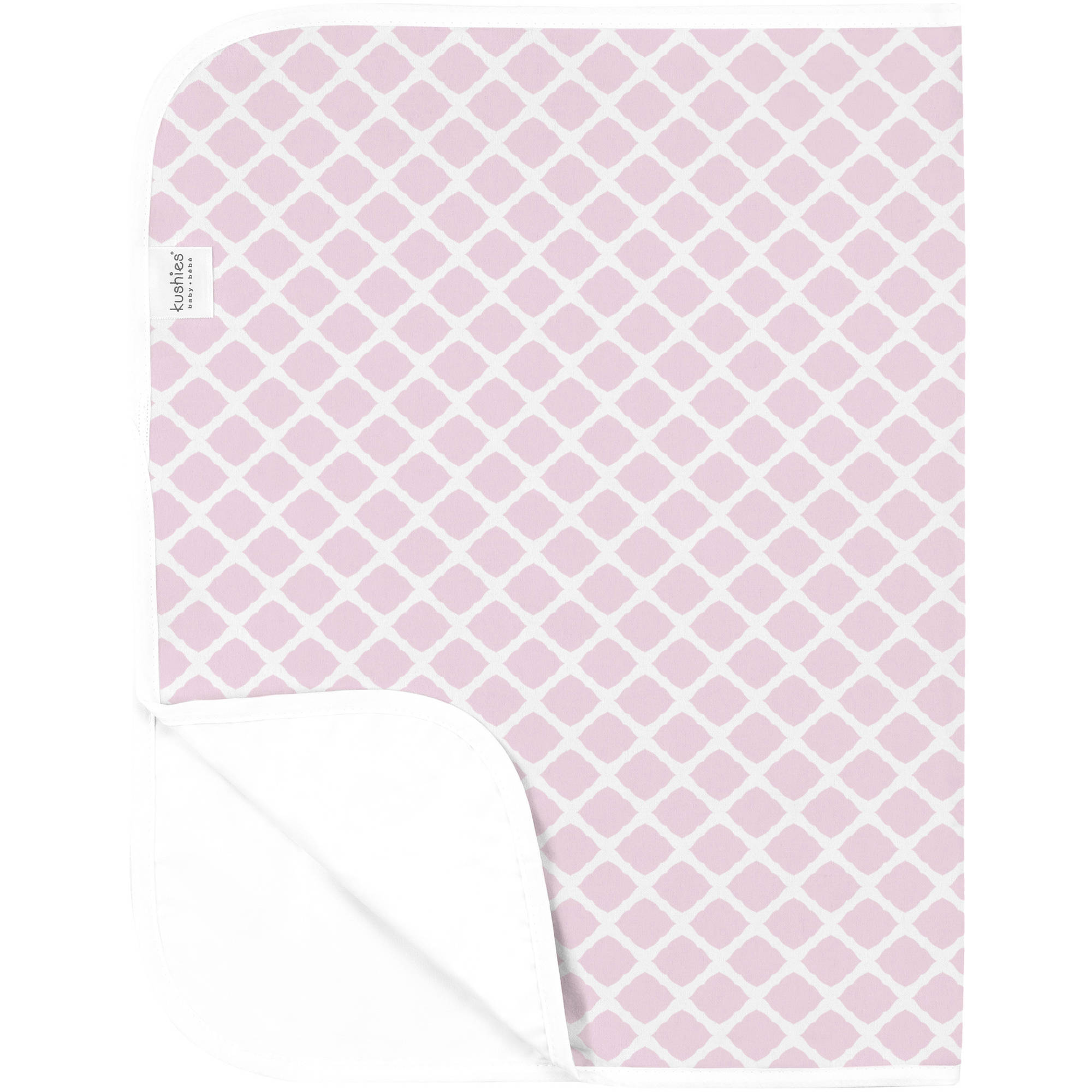 Kushies Deluxe Flannel Change Pad, Lattice Pink