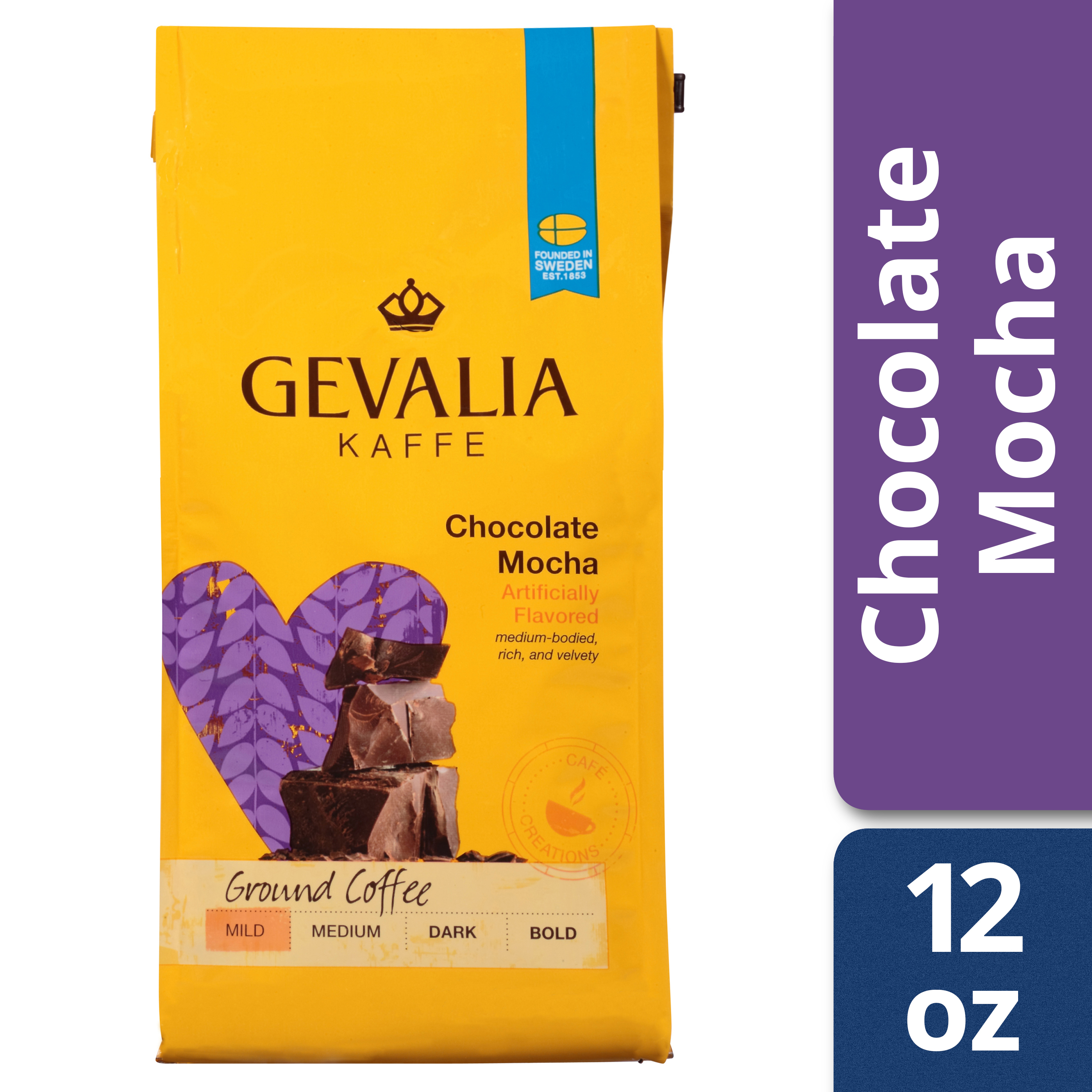 Gevalia Chocolate Mocha Ground Coffee, 12 oz Bag