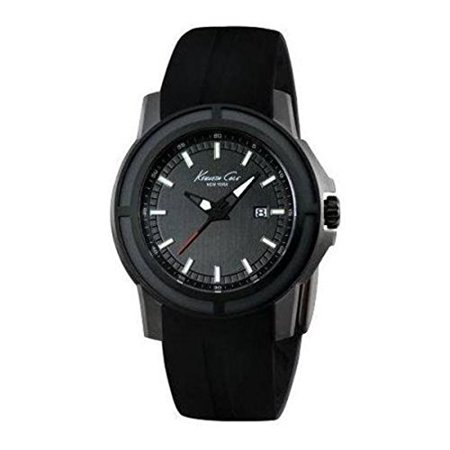 Kenneth Cole New York Black Dial Ss Silicone Quartz Mens Watch Kc1942