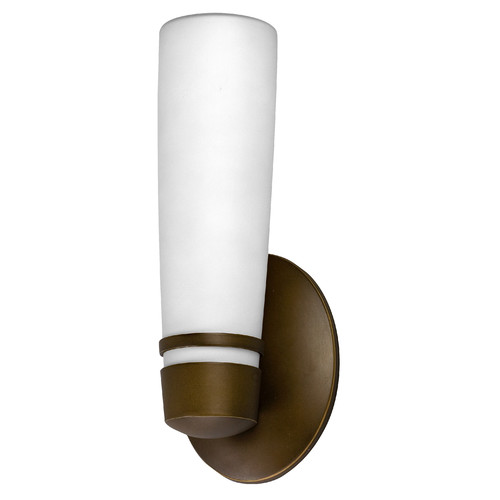 Aria Outdoor Fluorescent Wall Sconce w Back Plate (Small in Oil-rubbed Bronze) by AFX, Inc