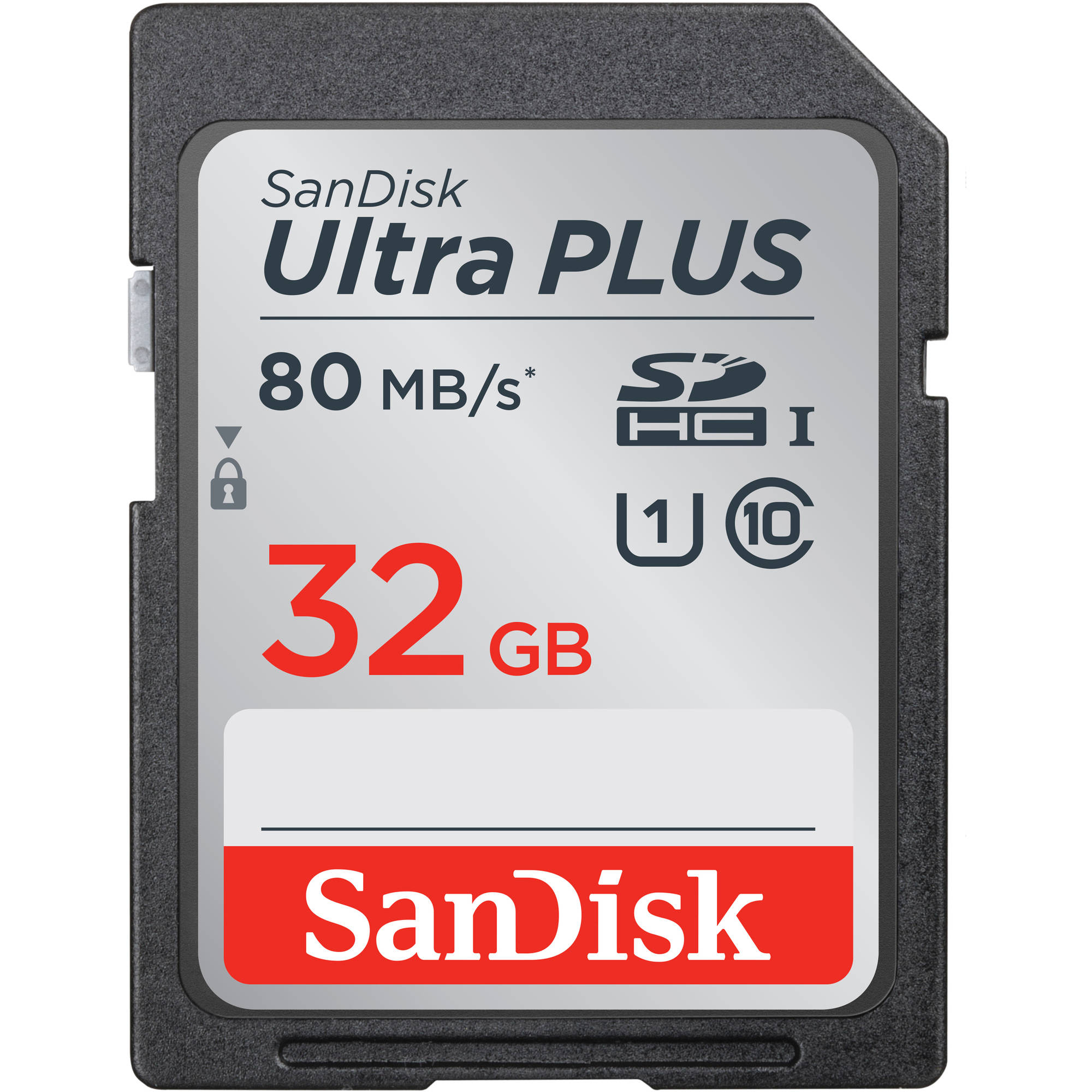 SanDisk Ultra PLUS UHS-1 32GB SD Card, Class 10