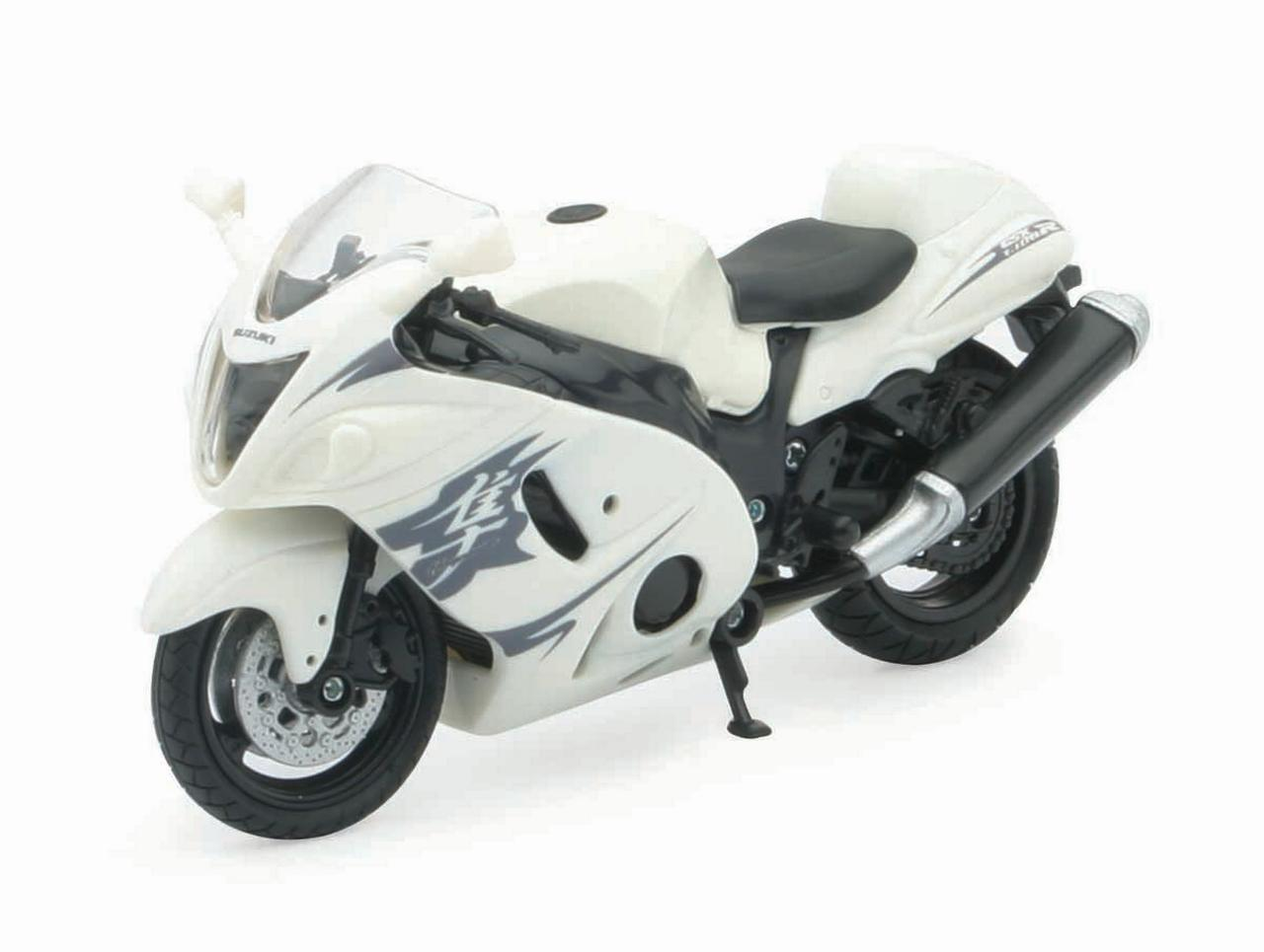 1:18 Scale Die-Cast Motorcycle White Suzuki GSX 1300R by New-Ray Toys Co., Ltd.