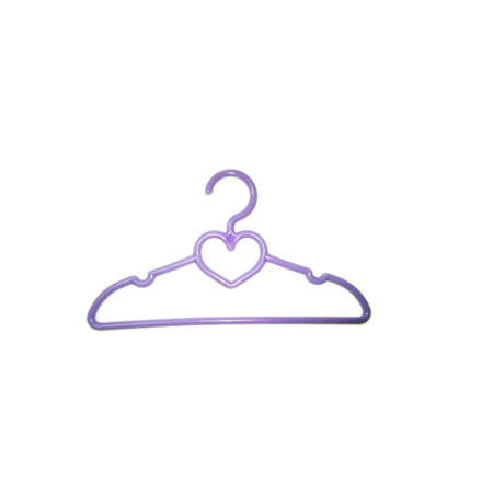 My Brittany's 10 Purple Heart Hangers for American Girl Dolls and Doll Clothes Organize your dolls' wardrobe withMy Brittany's 10 Purple Heart Doll Hangers. These cute purple colored hangers with a heart design are made of fine quality plastic, making them sturdy and durable. You can hang all the clothes of your 18  dolls on these doll clothes hangers. They come in a pack of 10 and can also be used to dry out the doll's clothes neatly and nicely, making them ready to wear after you wash them. Doll hangers make a wonderful gift for any child who collects dolls and doll clothing.