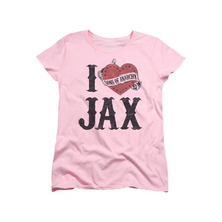 Sons Of Anarchy Popular TV Series I Heart Jax With Logo Women