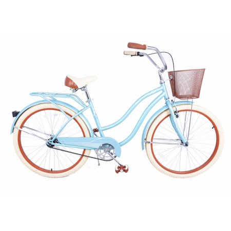 "Royal London Retro 18"" Ladies Cruiser Bike with Basket (Halloween Bike Ride London)"
