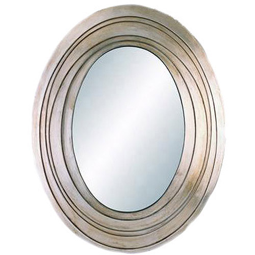 OK Lighting Silver Ripple Mirror