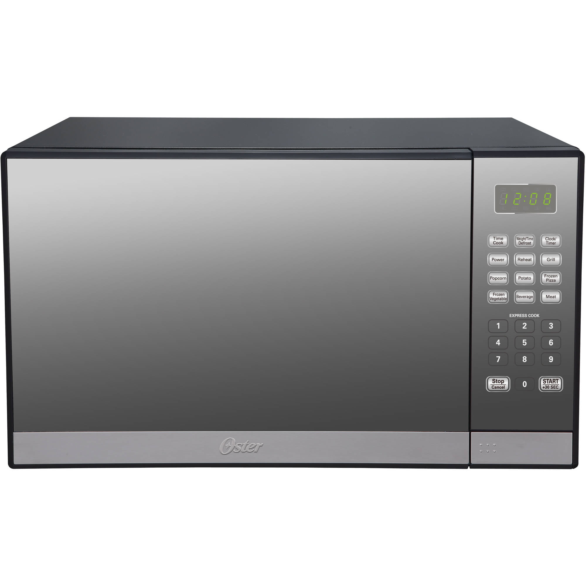 Oster 13 Cu Ft Microwave Oven With Grill Stainless Steel With