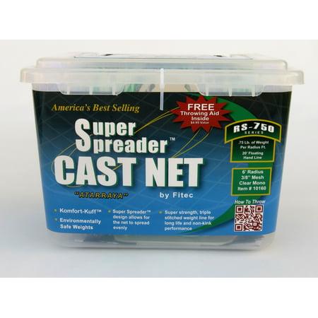 Fitec RS750 Super Spreader Cast Net 4.5'x 3/8