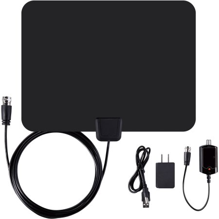 HDTV Antenna and Amplifier 50Miles HD Digital Indoor Freeview TV Amplified Signal High Gain 25dBi Aerial