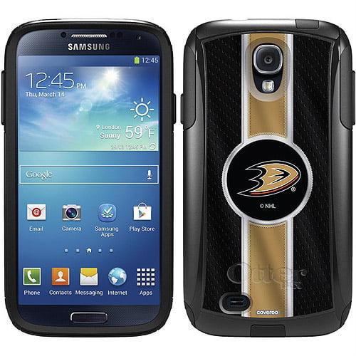 Anaheim Ducks Jersey Stripe Design on OtterBox Commuter Series Case for Samsung Galaxy S4