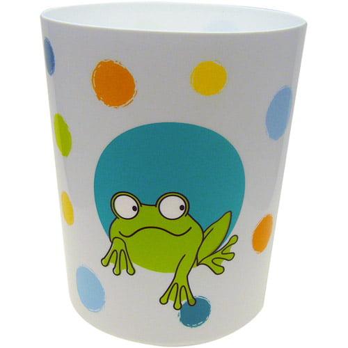 Peeking Frogs Waste Basket