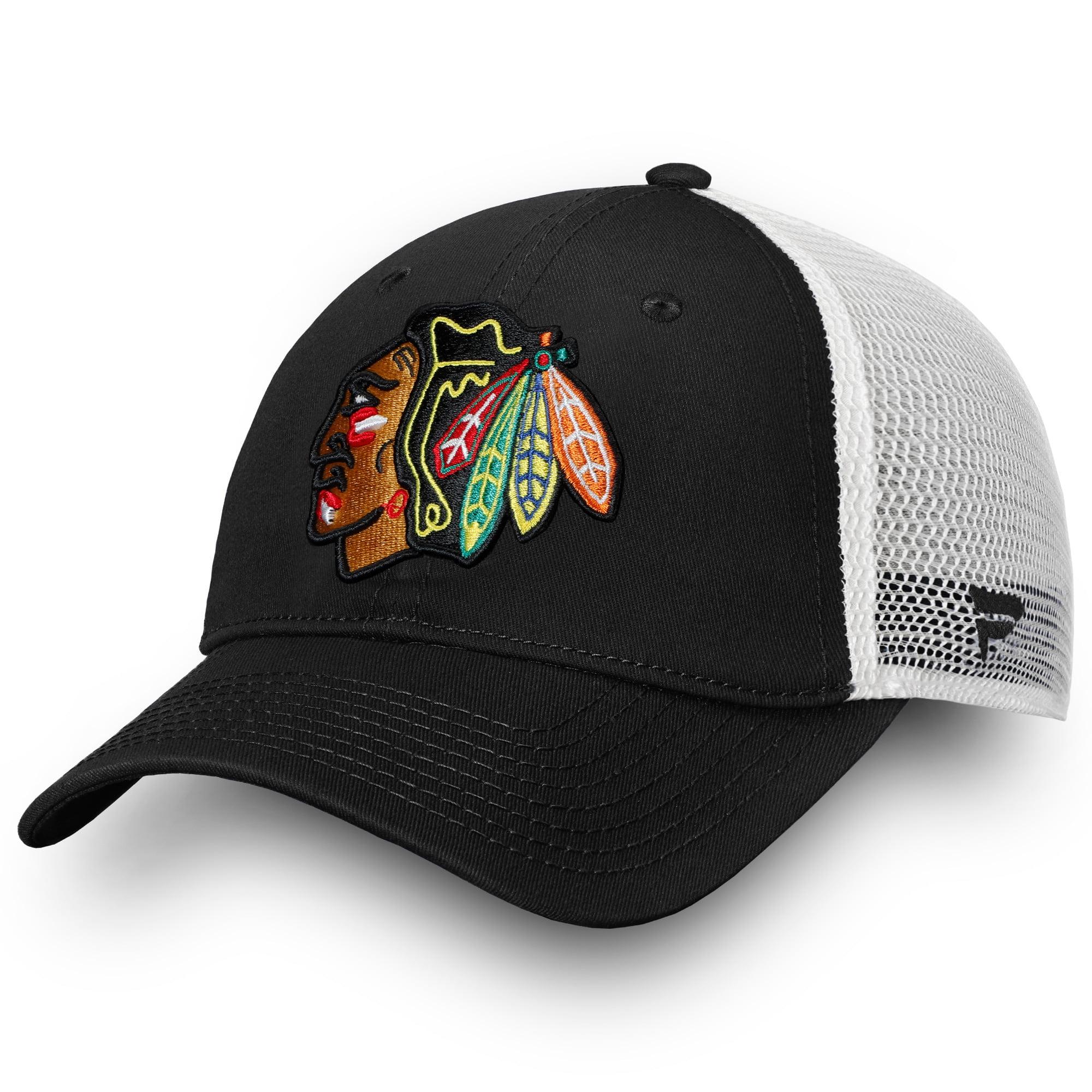 Chicago Blackhawks Fanatics Branded Core Trucker II Snapback Adjustable Hat - Black - OSFA