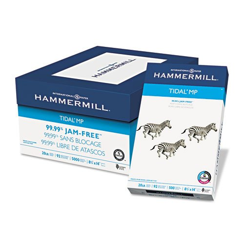 "Hammermill Great White Copy 8.5"" x 11"" Letter 30% Recycled (86700C) 20lb 92 Bright 10 Reams-5000 Sheets Total. Made in USA"