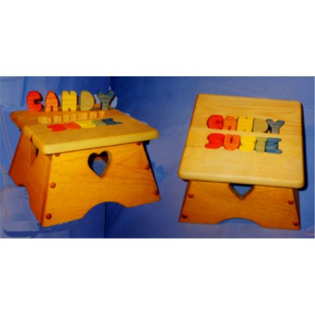 Amazing The Puzzle Man Toys W 2301 Childrens Wooden Play Furniture 11 X 11 In Safety Step Stool With Name Inserted Ocoug Best Dining Table And Chair Ideas Images Ocougorg
