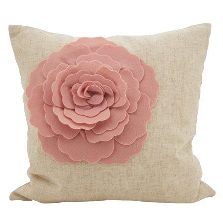 Rose Flower Statement Decorative Throw Pillow 18