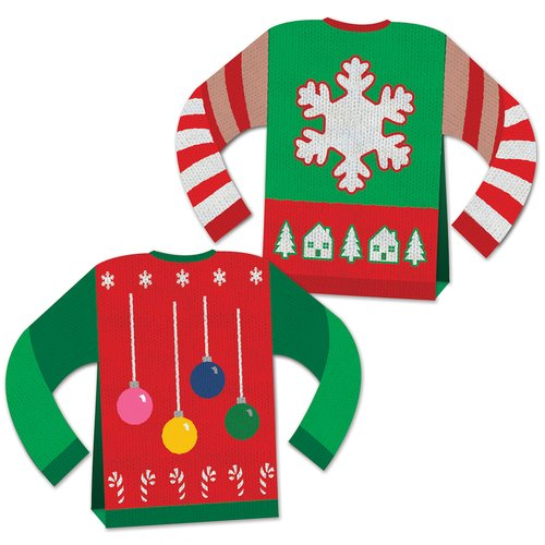 The Holiday Aisle 2 Piece 3-D Ugly Sweater Centerpiece Set