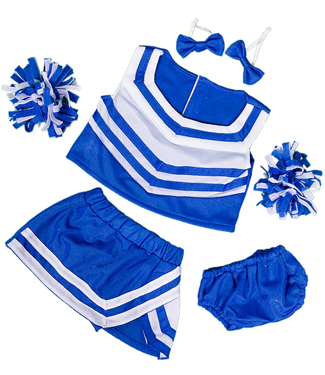 """Royal Blue & White Cheerleader Uniform Teddy Bear Clothes Outfit Fits Most 14"""" 18"""" Build-A-Bear,... by Teddy Mountain"""