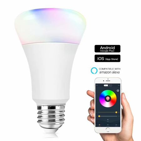 Morpilot Smart Light Bulb, Wifi Light Bulb Color Changing LED Light Bulbs  APP Remote Controlled Home Lamp Compatible with Google Home Assistant