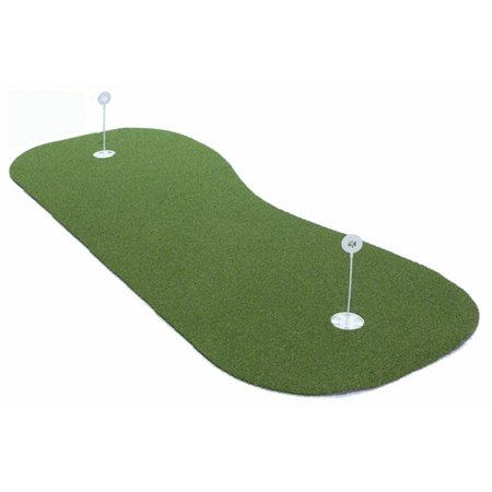 - ProViri Elite Putting Green Mat with 2 Cups, 3' x 8' with Non-Skid Backing