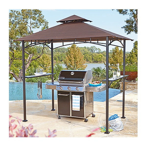 Palm Springs Deluxe 8FT Double Tier Barbecue Canopy / BBQ Grill Tent    Walmart.com