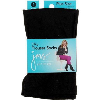 Just My Size Microfiber Trouser Socks - Black (Just My Size Trouser Socks)