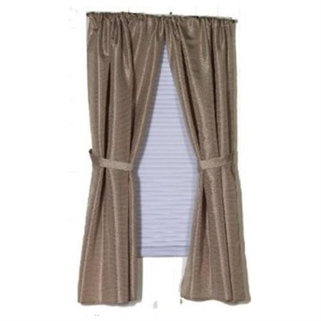 """Lauren"" Diamond-Piqued, 100% Polyester Window Curtain in Linen"