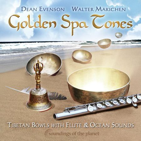 Golden Spa Tones: Tibetan Bowls with Flute & Ocean (CD)