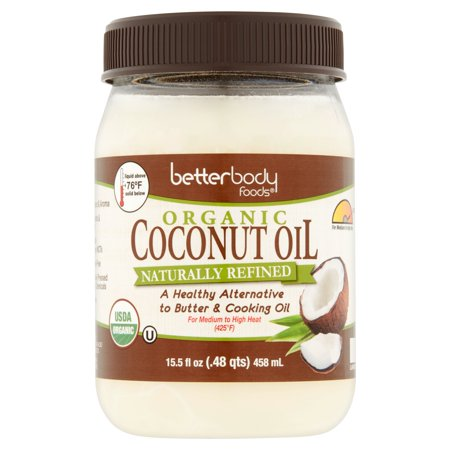 Betterbody Foods Organic Naturally Refined Coconut Oil, 15.5 fl oz, 6