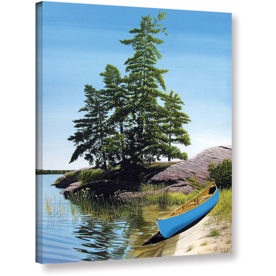 "ArtWall Ken Kirsch ""Canoe on Georgian Bay"" Wrapped Canvas"