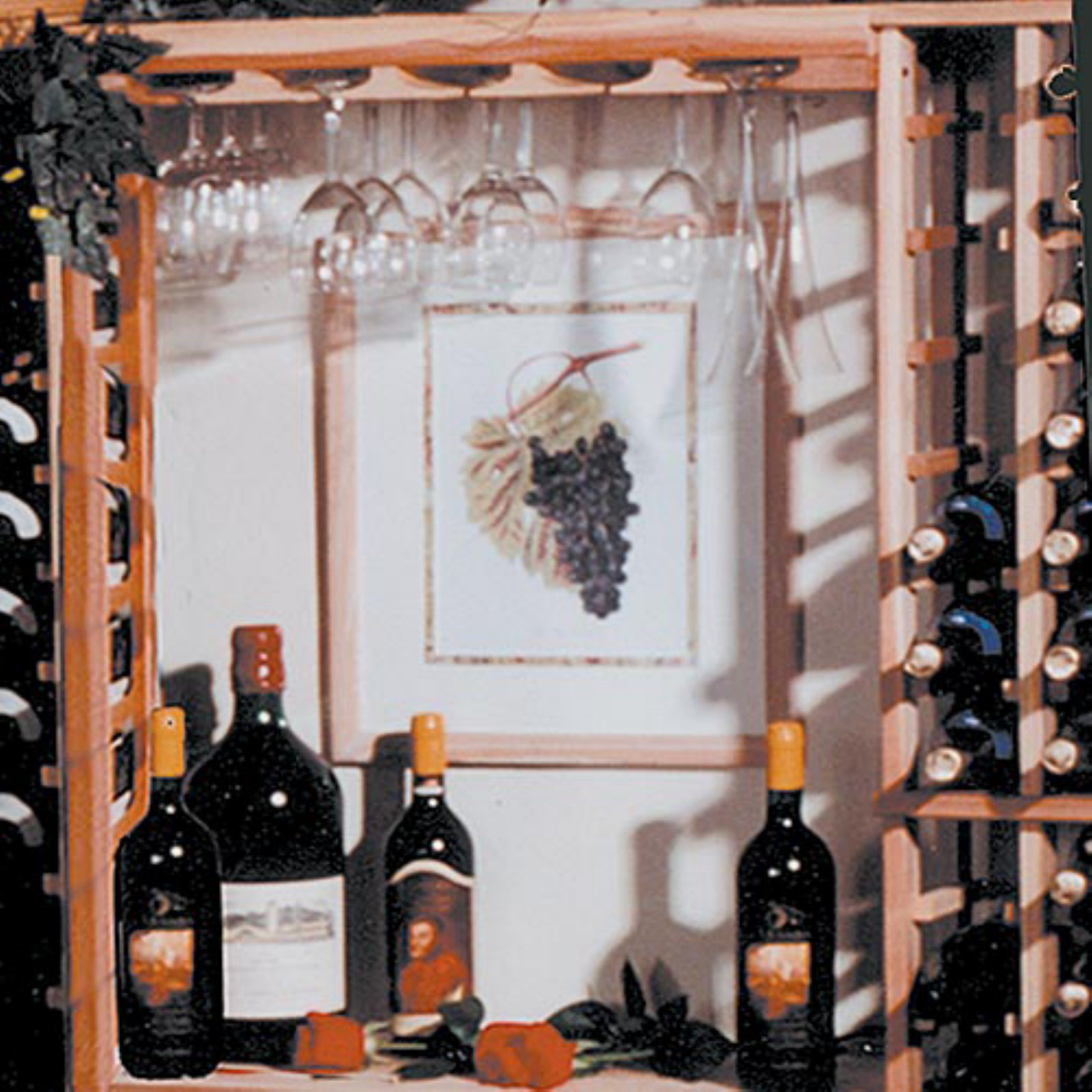 Traditional Series - Glass Hanging Wine Rack