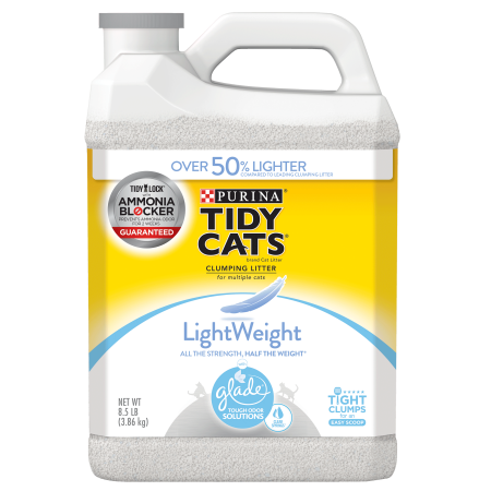 Purina Tidy Cats Light Weight, Dust Free, Clumping Cat Litter, LightWeight Glade Clear Springs Mulit Cat Litter - 8.5 lb. (Best Cat Litter For Odor And Dust)