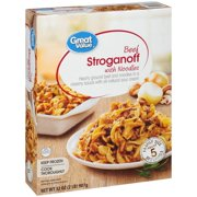 Great Value Frozen Beef Stroganoff with Noodles, 32 oz
