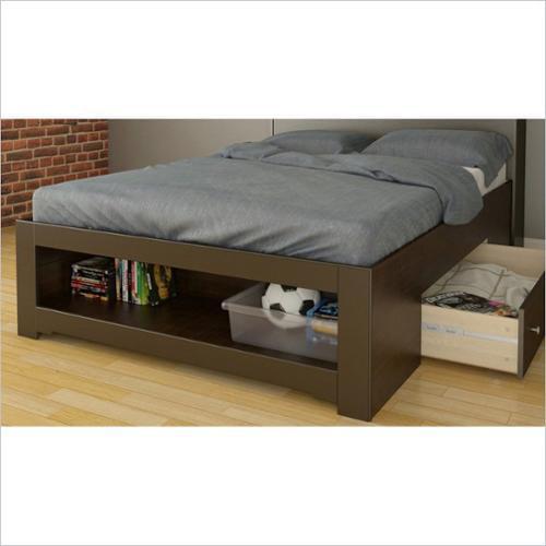 Nexera 325417 Dixon 2-Drawer Storage Bed, Full, Espresso