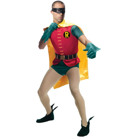 Rubie's Grand Heritage Men's Robin Classic Batman Tv Show 1966 Costume, X-Large