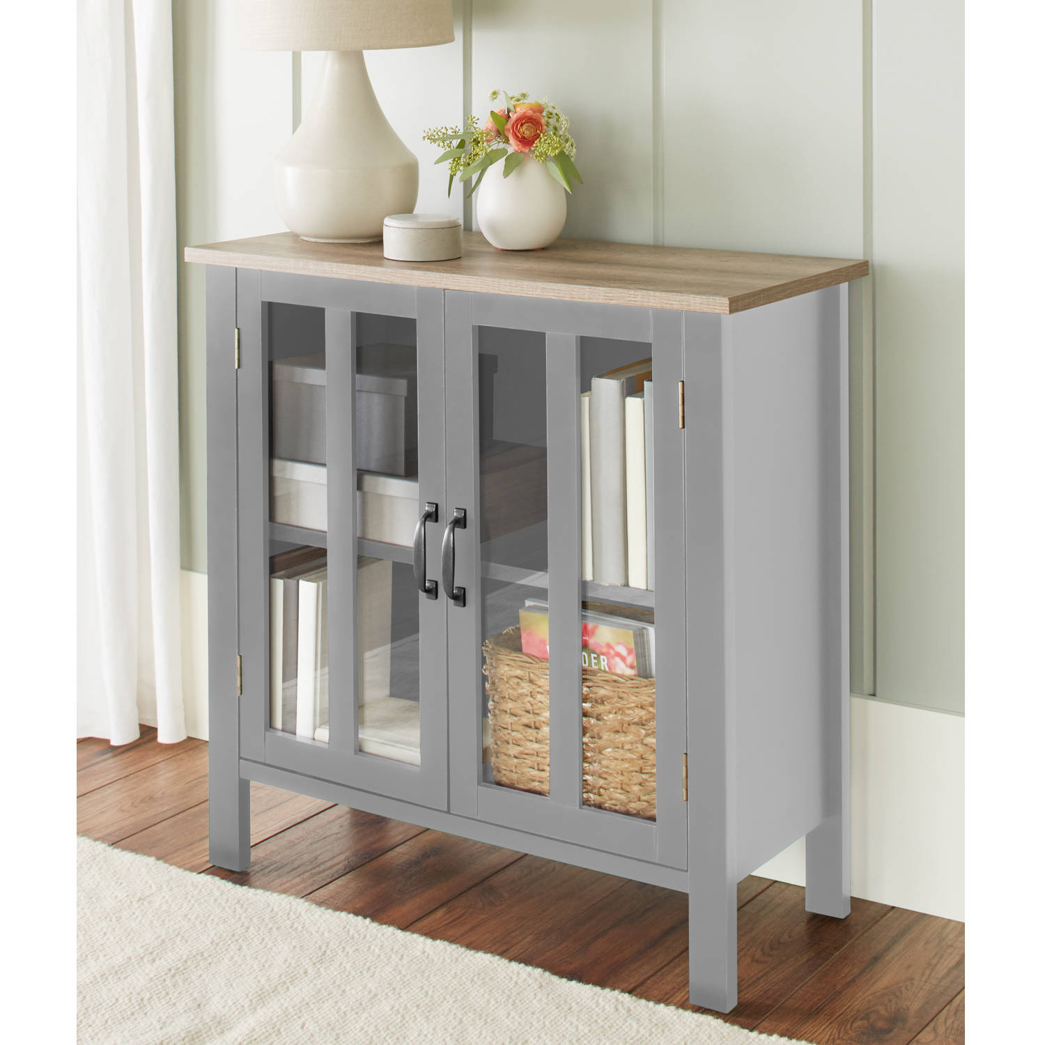 Better Homes and Gardens Bedford 2 Door Cabinet, Multiple Colors