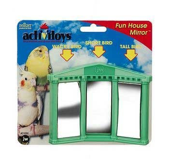 Insight Bird Toy Fun House Mirror Multi-Colored