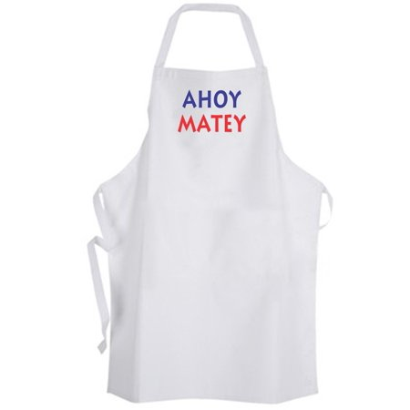 Aprons365 - Ahoy Matey – Apron - Pirate Phrase Nautical Expression Quote