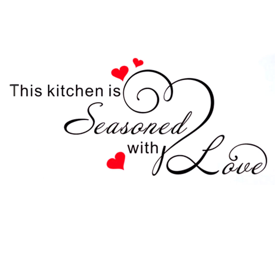 Vinyl Home Kitchen Seasoned Letter Quote Removable Wall Art Sticker Decor Mural Decal 60 x 30cm