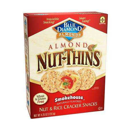 (Nut Thins Cracker Crisps, Smokehouse Flavor, 4.25 oz. Box)