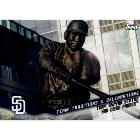 2019 Topps Opening Day Team Traditions and Celebrations #TTC-TGS Tony Gwynn Statue San Diego Padres Baseball Card