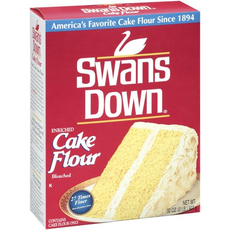 (3 Pack) Swans Down Enriched, Bleached Cake Flour, 32